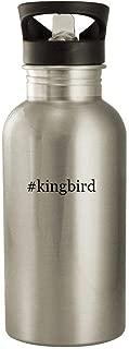 #kingbird - 20oz Stainless Steel Water Bottle, Silver