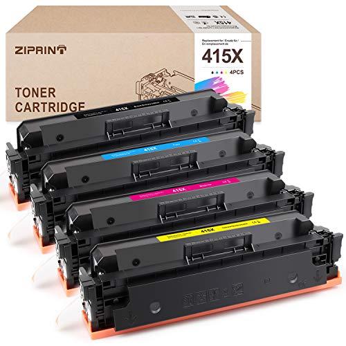 ZIPRINT Tóner compatible con HP 415X para HP Color Laserjet Pro MFP M479fdw M479fdn M454dw M454dn M454 (W2030X W2031X W2032X W2033X) (NO CHIP)