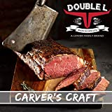 Boneless Beef Strip Loin Halves by Double L Ranch Meats | Fully Cooked and Lightly Seasoned | 8 Lbs.