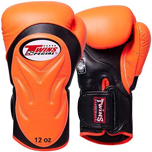 Twins Boxhandschuhe, Premium, BGVL-6, orange-schwarz, Boxing Gloves, Muay Thai Size 12 Oz