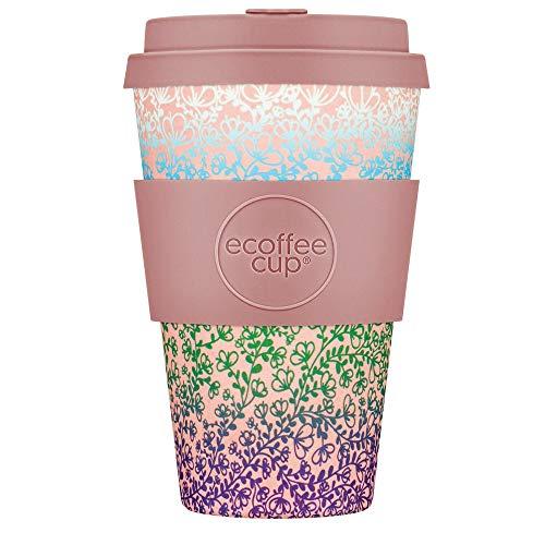 Ecoffee Cup becher Miscoso Quatro400 ml Bambus/Silikon rosa