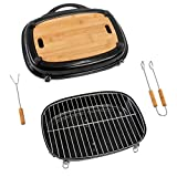 ACTIVA Pick Nick Grill Box Scatola per griglia Nera Pick-Nick griglia per Barbecue griglia da Campeggio griglia a Carbone di Legna