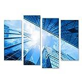 Bild Bilder auf Leinwand Moderne Geschäftswolkenkratzer,