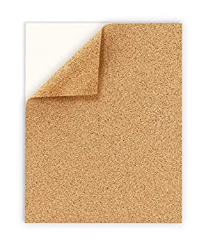 Hygloss Products Inc 2 mm Thick Self Adhesive Cork 8.5  x 11  2 Sheets Brown
