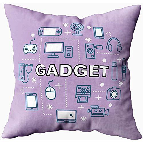 Kussensloop, vader geschenk, kussen soft standaard kussenslopen minimal Outline Icons Gadget, Multi Green