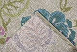 Luxor Living Outdoorteppich Webteppich Lost Garden für den Außenbereich florales Design/In- und Outdoor geeignet, Farbe:Beige-Blau, Größe:80 x 150 cm - 5
