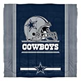 The Northwest Company Officially Licensed NFL Dallas Cowboys 'Safety' Full/Queen Comforter and 2 Sham Set, 86' x 86' , Blue
