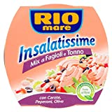 Rio Mare Insalatissime Mix di Fagioli e Tonno Pinne Gialle con Carote, Peperoni e Olive, Senza Conservanti, 160 g