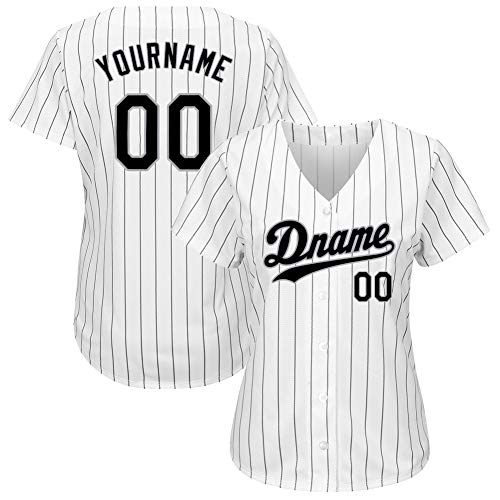 Custom Women's Hip Hop Athletic Shirts Button-Down Mesh Baseball Jersey Personalized Team Uniforms M