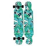 HYE-SPORT Dancing Longboard Skateboard 46 Pollici X 9 Pollici Wide Deck per Principianti A...