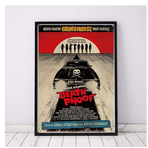 GIRDSS Death Proof Horror Classic Movie Poster Prints Wall Art Canvas Painting Picture Living Home Room Decor-50X100cm sin Marco