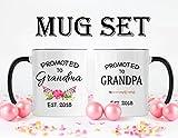 New Grandma Mug, New Grandpa Mug, Coffee Mug, Pregnancy Reveal, Mug Set, New Grandma Gift, New Grandpa Gift, Grandma To Be, Announcment