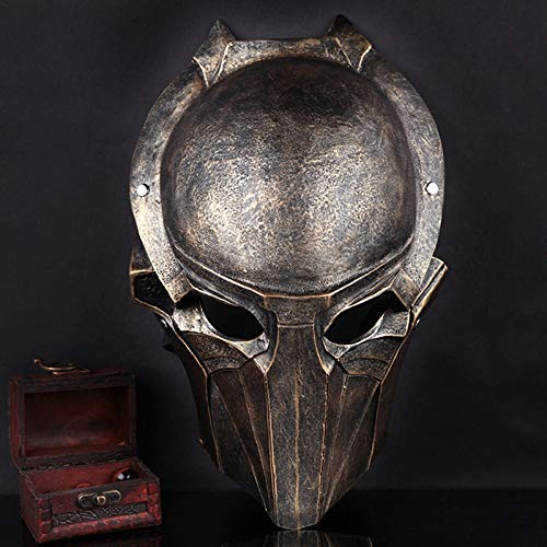 Resina Marrón Depredador Máscara Águila Máscara Mascarilla Terror Película Máscaras Fiesta Disfraz De Fantasía Cosplay Halloween