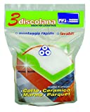 PARODI & PARODI Discolana 3 Dischi Lucidatrice, Tessuto, Bianco, 12x21x6 cm, 3 unità