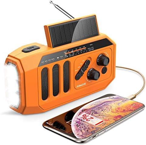 2021 Newest Emergency Radio 5000mAh Hand Crank Solar Weather Radio NOAA AM FM Portable Radio product image
