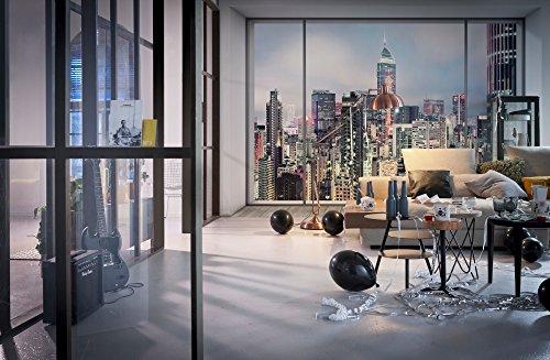 Komar - Vlies Fotottapete SUITE - 368 x 248 cm - Tapete, Wand, Dekoration, Wandbelag, Wandbild, Wanddeko, Skyline, New York - XXL4-030
