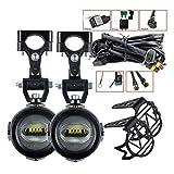 Luces auxiliares para la Motocicleta 40W 6000K Spot ACONDIBLE LÁMPULAS DE NIÑOS para R1200GS F800GS F700GS F650 K1600 (Color : 1 Set with Relay)