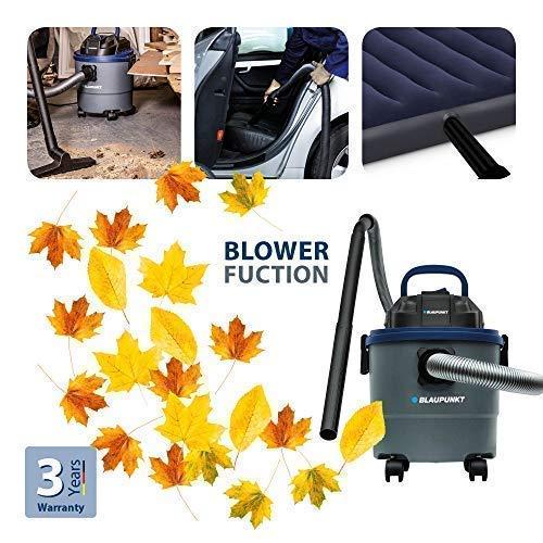 Blaupunkt WD4000Aspirateur humide et sec 1250W et réservoir de 15l avec la fonction de souffleur