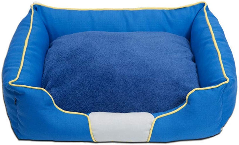 Pet Bed Kennel Keep Warm Washable Pet Nest Bite Resistance Dog Mat Indoor Dog Supplies Comfortable Pet Home (Size   48×40×16cm)
