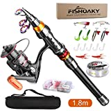 FISHOAKY Fishing Rod Set, 5.90ft Carbon...