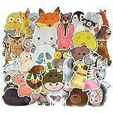 50 PCS animales de la acuarela etiqueta de dibujos animados lindo Juguetes educativos for niños Decal pegatinas for portátil DIY Maleta Frigorífico Guitarra (Color : Watercolor Animals)