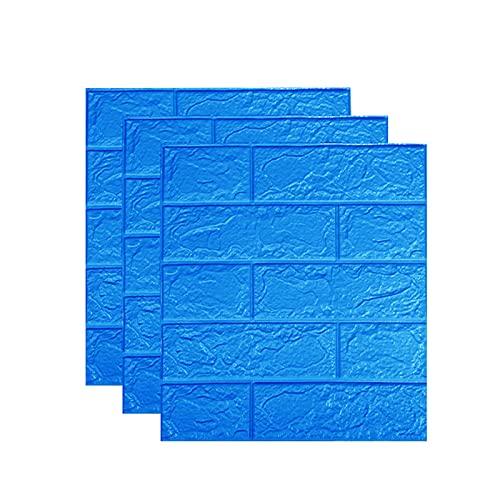 Delisouls Wallstickers 3D piedra ladrillo, autoadhesivo, fácil de pegar y despegar, papel de pared
