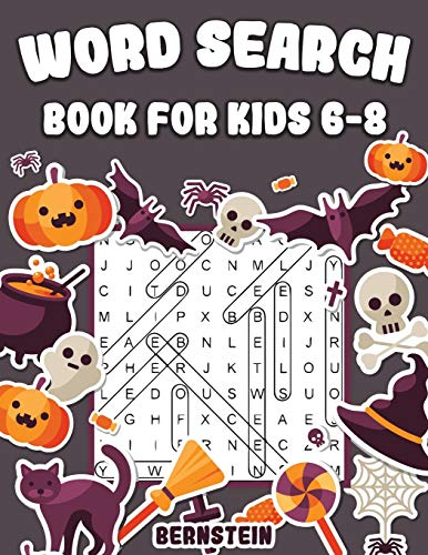 Word Search for Kids 6-8: 200 Fun Word Search Puzzles for Kids with Solutions - Large Print - Halloween Edition