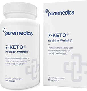 PUREMEDICS 7 Keto DHEA 25mg - 7-Keto DHEA to Promote Thermogenesis and Healthy Body Weight - Pharmaceutical-Grade - 3rd Pa...
