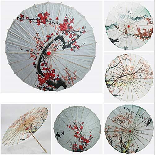 NJSDDB paraplu Olie Papier Paraplu Zijden Doek Vrouwen Paraplu Chinese Stijl Decoratie Paraplu Oude Dans Ambachtelijke Paraplu, Pruim