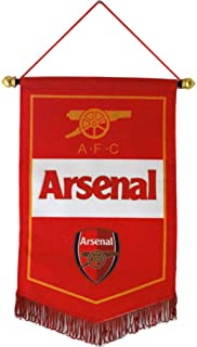 UHBHEA FC Arsenal Flag - Soccer Club Pentagon Hanging Flag for Indoor/Outdoor/Bedroom/Bars Decoration Red