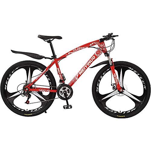 L&WB Bicicleta De Montaña, Bicicleta De Absorción De Golpes 26 Pulgadas 21/24/27 Velocidad De La Bicicleta De La Bicicleta De La Bicicleta De La Bicicleta De La Bicicleta para Adultos,21speed