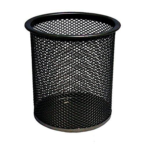 Amison - Portapenne in rete, da scrivania, colore: nero