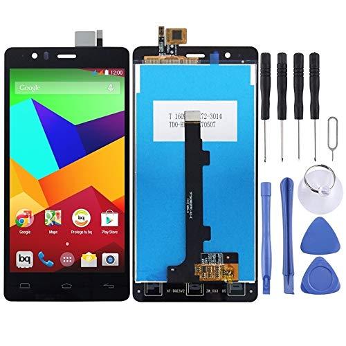 YANTAIAN Piezas de reparación de teléfonos celulares Pantalla LCD y ensamblaje Completo del digitalizador for BQ Aquaris E5 E5.0 (Color : Black)