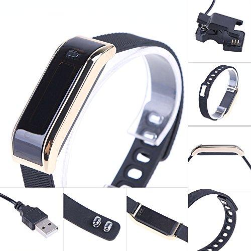 chebao, Reloj inteligente, relojes inteligentes, pulsera inteligente alerta de salud reloj pulsera inteligente (oro) - 147519.02
