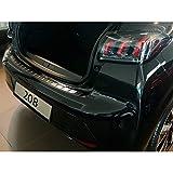 Avisa 2/45240 Protection de seuil arrière INOX Noir sur Mesure pour Peugeot 208 II HB 5-Portes 2019- 'Ribs'