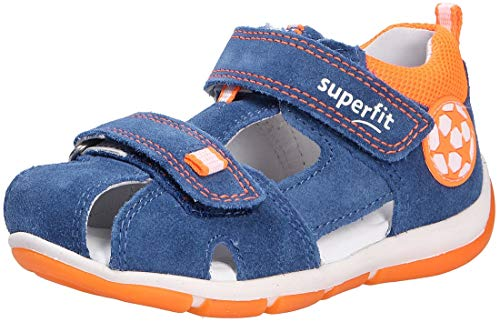 Superfit Baby Jungen FREDDY Sandalen, (Blau/Orange 80), 23 EU