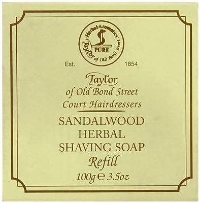 Taylor of Old Bond Street 100g Sandalwood Herbal Shaving Soap Refill from Taylor of Old Bond Street