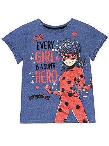 Miraculous Camiseta para Niñas Ladybug Azul 5-6 Años