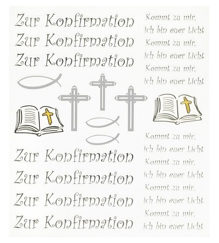 Hobby Design Sticker * Zur Konfirmation * Aufkleber