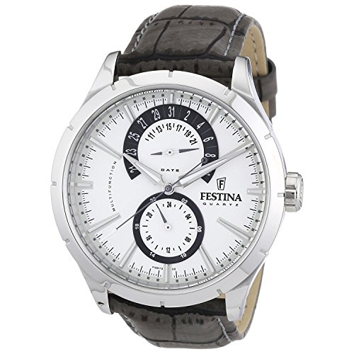 Festina Herren Chronograph Quarz Uhr mit Edelstahl Armband F16573/2