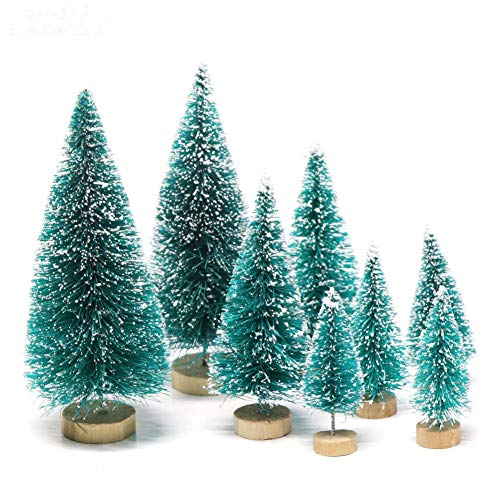 Handfly 8 Piezas Mini árboles Navidad Árbol Navidad