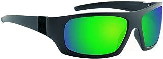 Hoven Easy Polarized Sunglasses, Black on Black/Green Chrome , One Size