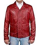 MSHC Men's Fight Club Faux Leather Coat XL Burgundy