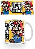 Pyramid International super Mario (Ti rende più piccolo) ufficiale inscatolato ceramica tazza da tè/caffè, carta, multicolore, 11x 11x 1.3cm