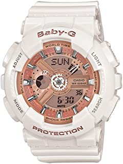 Casio Baby G Women BA110-7A1 Year-Round Analog-Digital Automatic White Watch