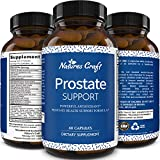 All Natural Prostate Support Health Supplement Pure Extract Pills Best Formula Saw Palmetto Extract Capsules Plant Sterol Complex – Urinary System Boost Vitamins Hair Growth for Men by Natures Craft