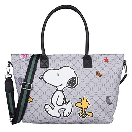 CODELLO Damen X Peanuts Tasche Handtasche, grey, Einheitsgröße