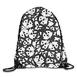 htrewtregregre Caroon Siberian Husky Sport Mochilas con cordón Travel Daypack Saco Casual Shoulder Bolsos for Men Women