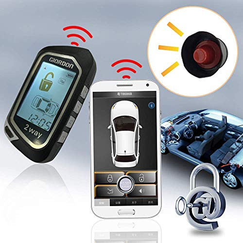2 Way LCD Car Alarm Security Sys...