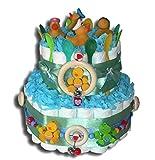 Tarta de pañales mágica para niñas, regalo para bebés, bautizos,...